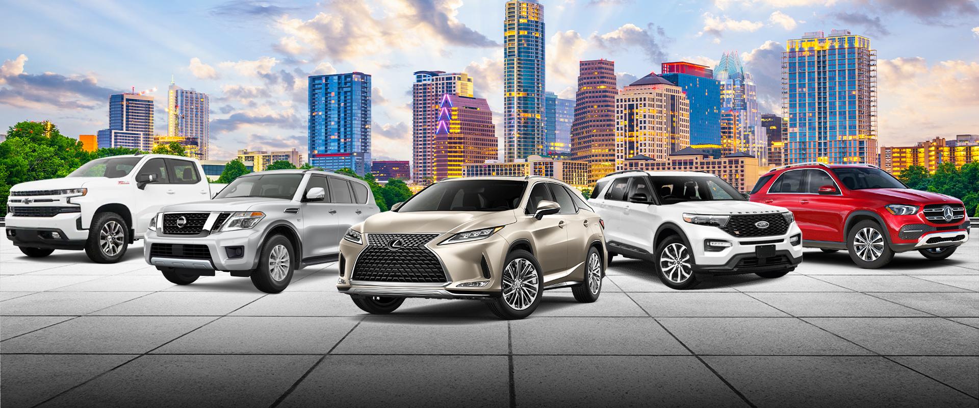 Austin Skyline with new cars